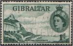 Sellos del Mundo : Europa : Gibraltar : El Peñón desde el Estrecho