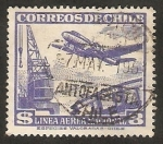 Stamps Chile -  Grúa portuaria