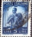 Sellos de Asia - Italia -  Intercambio 0,20 usd 5 l. 1945