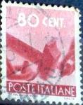 Sellos de Europa - Italia -  Intercambio 0,20 usd 80 cent. 1945