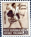 Sellos de Europa - Italia -  Intercambio cr2f 0,20 usd 30 cent. 1944