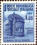 Stamps Italy -  Intercambio 0,80 usd 1,25 l. 1944