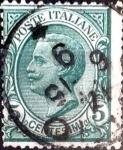 Sellos de Europa - Italia -  Intercambio 0,30 usd 5 cent. 1906
