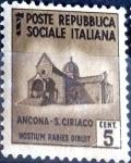 Sellos de Europa - Italia -  Intercambio 0,20 usd 5 cent. 1944