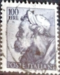 Sellos de Europa - Italia -  Intercambio 0,20 usd 100 l. 1961