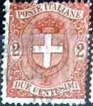 Sellos del Mundo : Europa : Italia : Intercambio 1,75 usd 2 cent. 1896