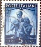 Sellos de Europa - Italia -  Intercambio 0,20 usd 5 l. 1945