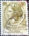 Stamps Italy -  Intercambio 0,20 usd 50 l. 1958