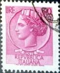 Sellos de Europa - Italia -  Intercambio 0,20 usd 40 l. 1968
