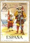 Stamps Spain -  UNIFORMES - Arcabucero 1632