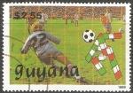 Sellos del Mundo : America : Guyana : Copa del Mundo 1989