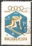 Stamps Hungary -  Winter Olympics 1960, Squaw Valley-Juegos Olímpicos de Squaw Valley 1960