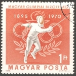 Stamps Hungary -  75 años de Comité Olímpico de Hungría