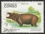 Stamps Republic of the Congo -  Hipopótamo