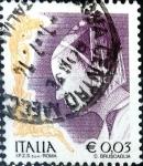 Sellos de Europa - Italia -  Intercambio 0,20 usd 3 cent. 2002