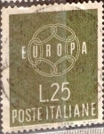 Stamps : Europe : Italy :  Intercambio crf 0,20 usd 25 l. 1959