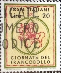 Stamps : Europe : Italy :  Intercambio crf 0,20 usd 20 l. 1966