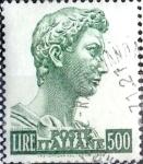 Sellos de Europa - Italia -  Intercambio 0,20 usd 500 l. 1957