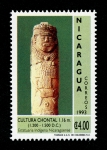Stamps of the world : Nicaragua :  Arqueología Chontal