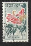 Stamps Gabon -  African Tulip Tree (Spathodeum campanulata)