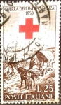 Stamps : Europe : Italy :  Intercambio jcs 0,20 usd 25 l. 1959