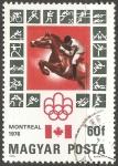 Sellos del Mundo : Europa : Hungría : Juegos Olímpicos de Montreal 1976
