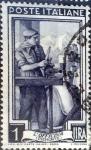 Sellos de Europa - Italia -  Intercambio 0,20 usd 1 l. 1950