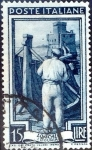 Stamps : Europe : Italy :  Intercambio jcs 0,20 usd 15 l. 1950