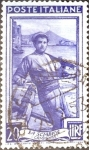 Stamps : Europe : Italy :  Intercambio jcs 0,20 usd 20 l. 1950