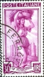 Stamps : Europe : Italy :  Intercambio jcs 0,20 usd 30 l. 1950