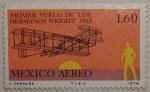Stamps Mexico -  primer vuelo de los hermanos wrigth
