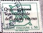 Stamps : Europe : Italy :  Intercambio cr5f 0,20 usd 50 l. 1969