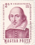 Stamps Hungary -  W. Shakespearev 1564-1616