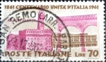 Stamps Italy -  Intercambio 0,20 usd 70 l. 1961
