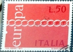 Stamps : Europe : Italy :  Intercambio crf 0,20 usd 50 l. 1971