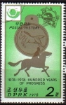 Stamps North Korea -  Corea Norte 1978 Scott1670 Sello Historia Postal Cartero a Caballo M-1693 Matasello de favor Preobli