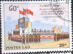 Sellos de Asia - Laos -  Intercambio 0,20 usd 20 k. 1990
