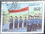Stamps : Asia : Laos :  Intercambio 0,50 usd 120 k. 1990