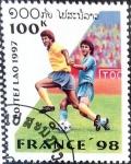 Stamps : Asia : Laos :  Intercambio crxf 0,20 usd 100 k. 1997