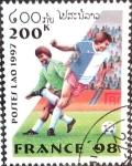 Stamps Laos -  Intercambio crxf 0,20 usd 200 k. 1997