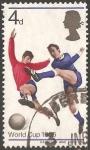 Stamps United Kingdom -  Copa Mundial de Fútbol de 1966