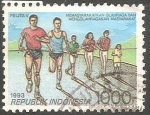 Stamps Indonesia -  Carreras
