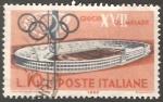 Sellos de Europa - Italia -  Los Juegos de la XVII Olimpiada se celebraron en Roma (Italia) de 8 a 11 veinticinco 9 uno mil novec