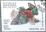 Stamps Madagascar -  Intercambio crxf 0,30 usd 500 fr. 1991