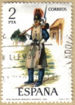 Sellos de Europa - España -  UNIFORMES - Gastador Rgto. de Ingenieros 1850