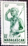 Stamps : Africa : Madagascar :  Intercambio 0,20 usd 10 cent. 1948