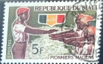 Stamps : Africa : Mali :  Intercambio 0,20 usd 5 fr. 1966