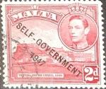 Stamps : Europe : Malta :  Intercambio 0,30 usd 2 p. 1948