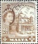 Stamps : Europe : Malta :  Intercambio 0,20 usd 2 p. 1956