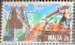 Stamps : Europe : Malta :  Intercambio 0,20 usd 2 cent. 1981